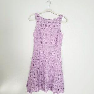BB Dakota lavender lace cocktail dress size 6